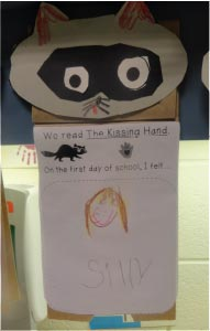 We read the Kissing Hand