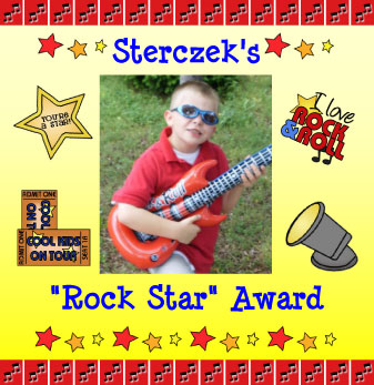 Sterczek's Rock Star Award. Click to Apply.